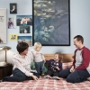 Torino - Cinzia Barbero, 37 yrs old, psycologist, and Barbara Aleandri, 37, entrepreneur, with their two sons Sofia, 16 moth, born from Cinzia and Emma, 3 yrs old, borno from Barbara