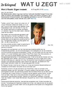 Telegraaf 20130827