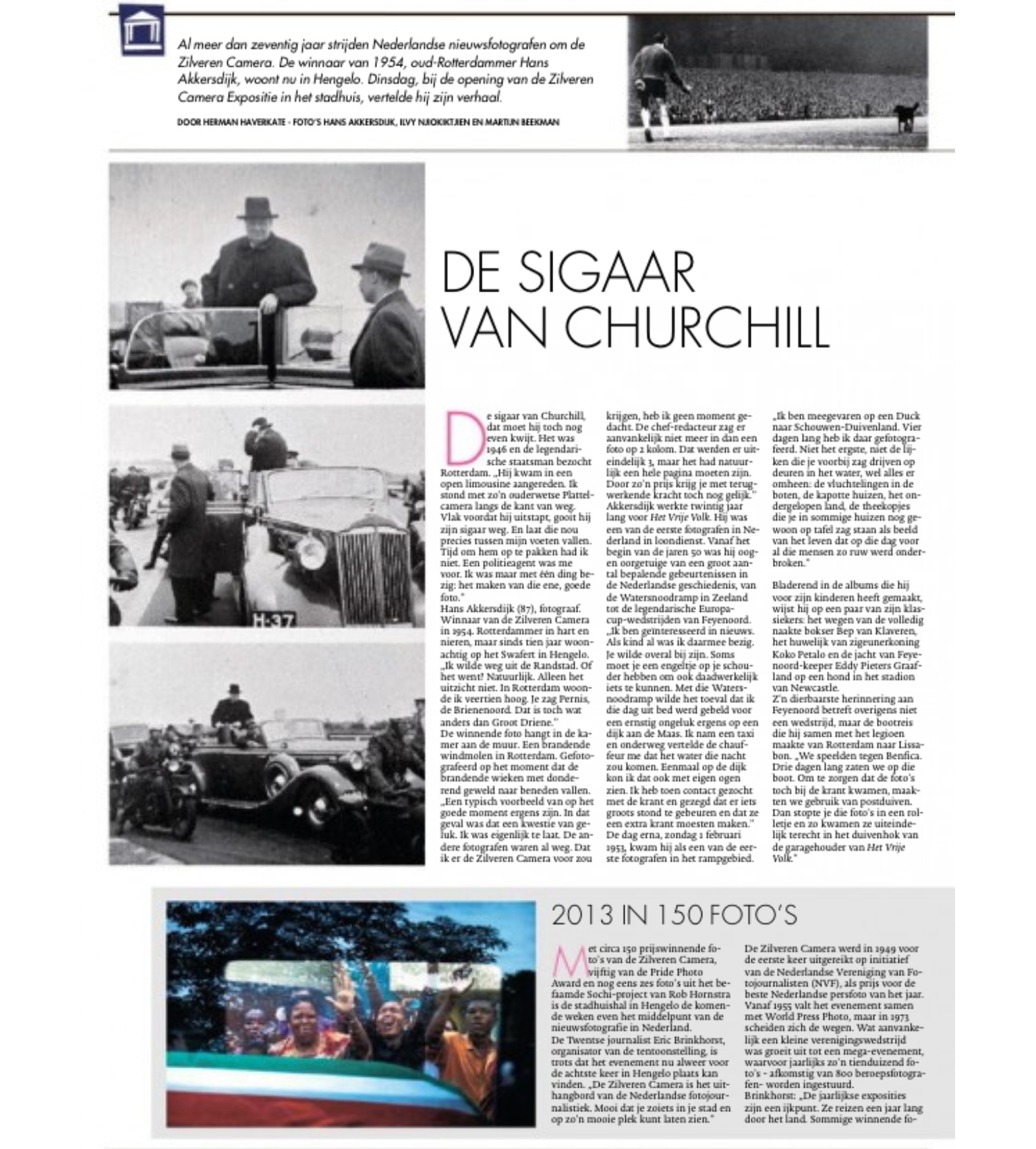 Page 1 (article in Dutch)